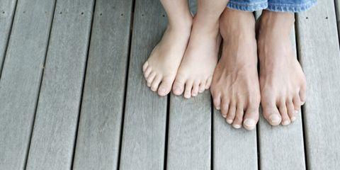 Toe, Skin, Human leg, Joint, Barefoot, Foot, People in nature, Nail, Hardwood, Close-up,