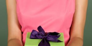 Blue, Pink, Purple, Magenta, Paper product, Pattern, Box, Electric blue, Gift wrapping, Present,