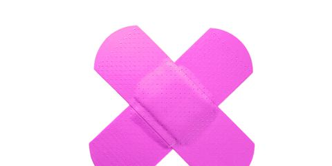 breast cancer pink band-aid