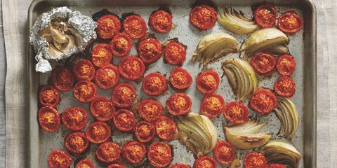 Food, Ingredient, Recipe, Dish, Finger food, Fast food, Cuisine, Plate, Cooking, Sun-dried tomato,