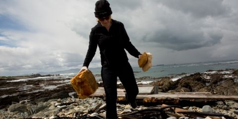 Wood, Waste, People in nature, Pollution, Shore, Driftwood, Sun hat, Coconut,