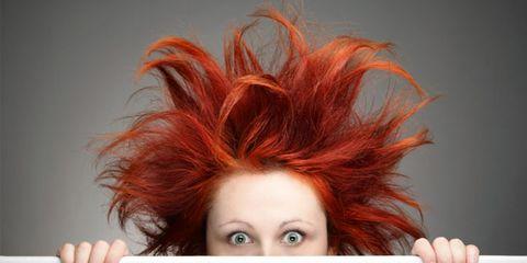 Lip, Finger, Hairstyle, Forehead, Eyebrow, Red, Eyelash, Style, Red hair, Orange,