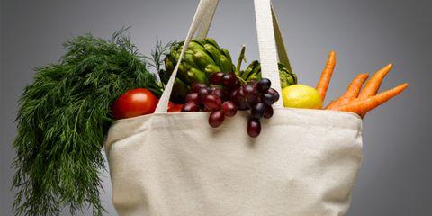 food myths debunked; bag of groceries