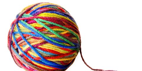 aromatherapy can help burnout; unraveled ball of yarn