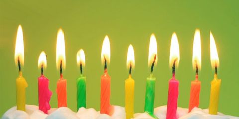 older people have better attitudes; birthday candles on a cake