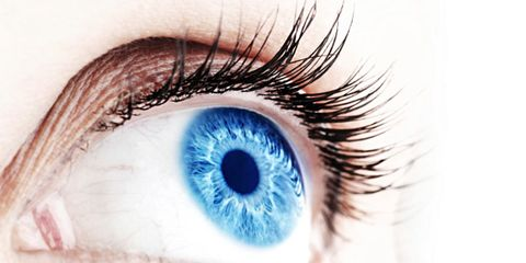 iris implants are a risky procedure; woman with blue eyes