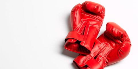 Boxing glove, Shoe, Red, Carmine, Leather, Boot, Boxing equipment, Coquelicot, Glove, Latex,