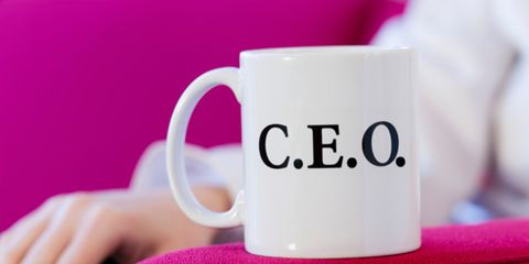 powerful people tend to feel more authentic; mug with ceo written on it