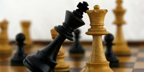 competition can be healthy; chess board