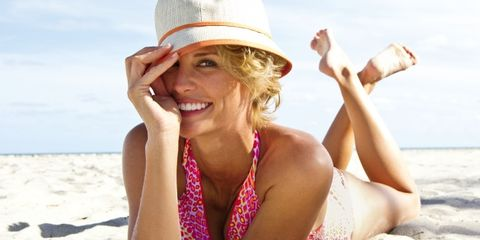 Clothing, Finger, Fun, Skin, Hat, People on beach, Summer, People in nature, Elbow, Sitting,