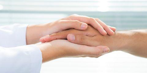 Hands supporting hands