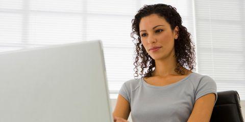 Product, Shoulder, Eyebrow, Eyelash, Sitting, Office equipment, Black hair, Computer, Window covering, Long hair,
