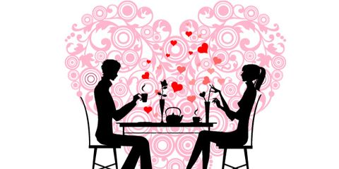 tips for heart-healthy valentine's day; couple at a romantic dinner