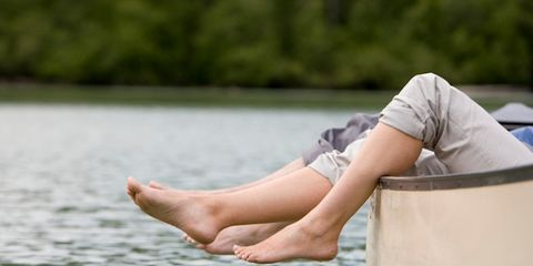 People in nature, Summer, Bank, Lake, Foot, Toe, Barefoot, Ankle, Loch, Balance,