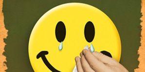 Finger, Yellow, Emoticon, Happy, Smiley, Facial expression, Orange, Black, Animated cartoon, Gesture,