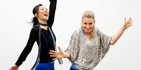 Top health and fitness tips; women dancing