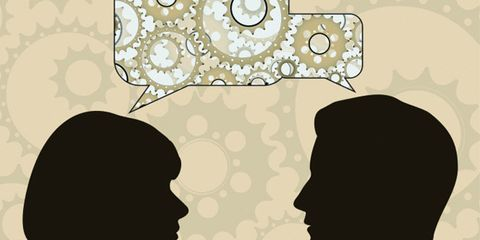 bilingual people have better cognition as they age; two people talking