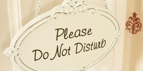 emotional regulation can assist sleep; do not disturb sign