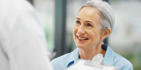 doctor and patient rapport; woman talking to doctor
