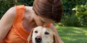 like yourself-woman with dog