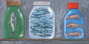 Bottle, Drinkware, Art, Paint, Majorelle blue, Painting, Art paint, Collection, Plastic bottle, Visual arts,