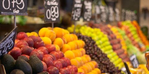 organics still contain chemicals; row of produce