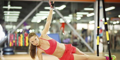 Side plank with TRX Suspension Trainer