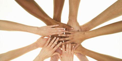 eczema treatment on the horizon; several bare hands