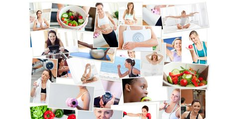 diet, exercise, stress relief, support