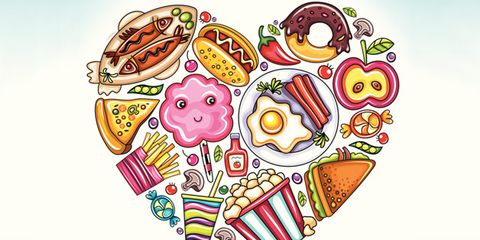 food cravings; food illustration