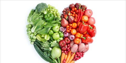 magnesium is required for heart health; vegetables shaped like a heart