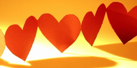 stress can harm heart health; paper hearts in a row