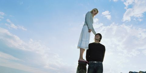 Human, Sky, Standing, Denim, People in nature, Gesture,