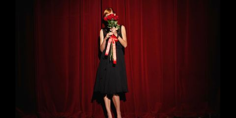 Stage, Curtain, Bouquet, Theater curtain, Cut flowers, Rose, Rose family, Garden roses, Artificial flower, Flower Arranging,