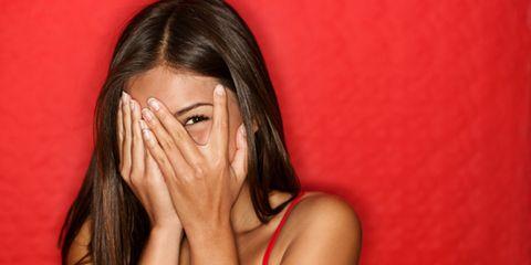 Finger, Lip, Hairstyle, Skin, Eyebrow, Red, Wrist, Eyelash, Nail, Organ,