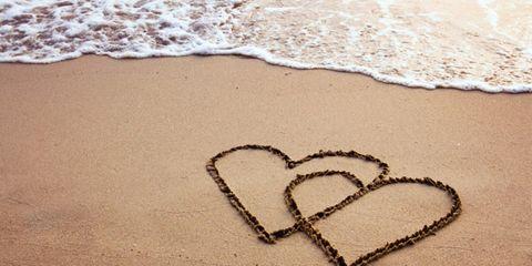 Sand, Beach, Heart, Beige, Love, Building material, Handwriting, People on beach,