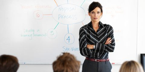 vocal pitch affects perception of leadership; woman speaking
