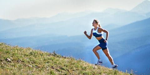 Recreation, Landscape, People in nature, Sleeveless shirt, Outdoor recreation, Running, Summer, Exercise, Travel, Physical fitness,