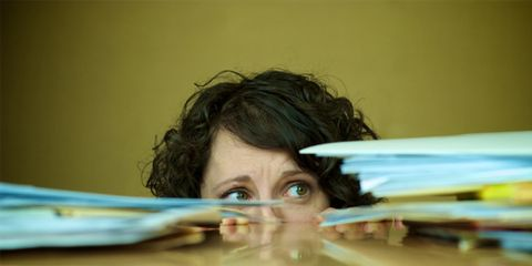 3 second distractions can curb productivity; woman looking stressed out