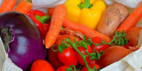 shopping bag full of vegetables