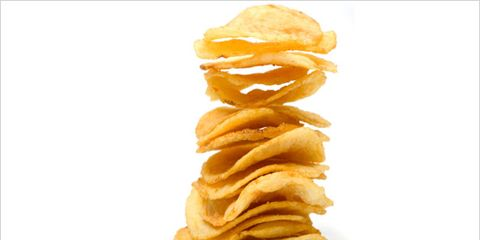 the science of junk food addiction; pile of potato chips