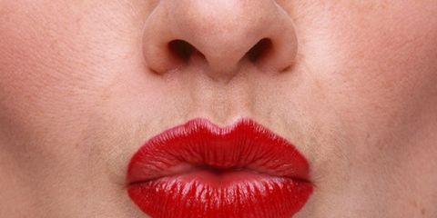 survey on women and aging gracefully; woman with red lipstick