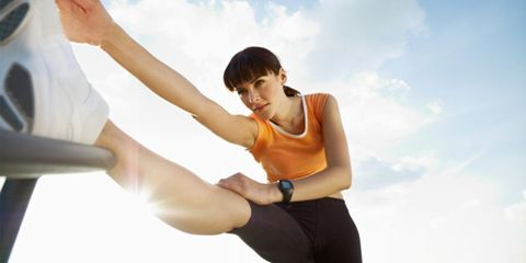 Sweat might help wound healing; woman exercising