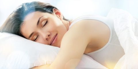 a new mattress claims to improve fitness; woman sleeping