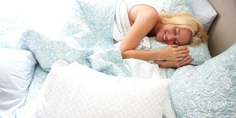 Human, Comfort, Textile, Linens, Bedding, Bed sheet, Pillow, Sleep, Blond, Blanket,