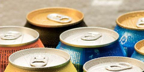 Energy drinks can cause health problems; soda cans