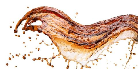 energy drink dangers; splashing soda