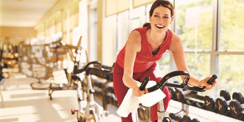Indoor cycling on flywheel