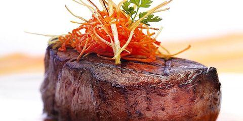 Food, Ingredient, Beef, Orange, Garnish, Pork, Meat, Cuisine, Dish, Ostrich meat,