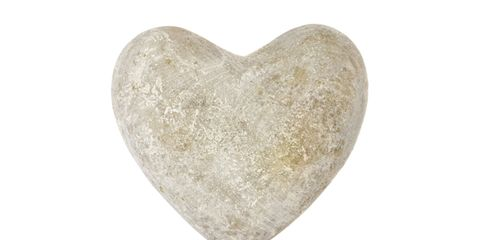 Heart, Organ, Beige, Oval, Natural material, Love, Silver,